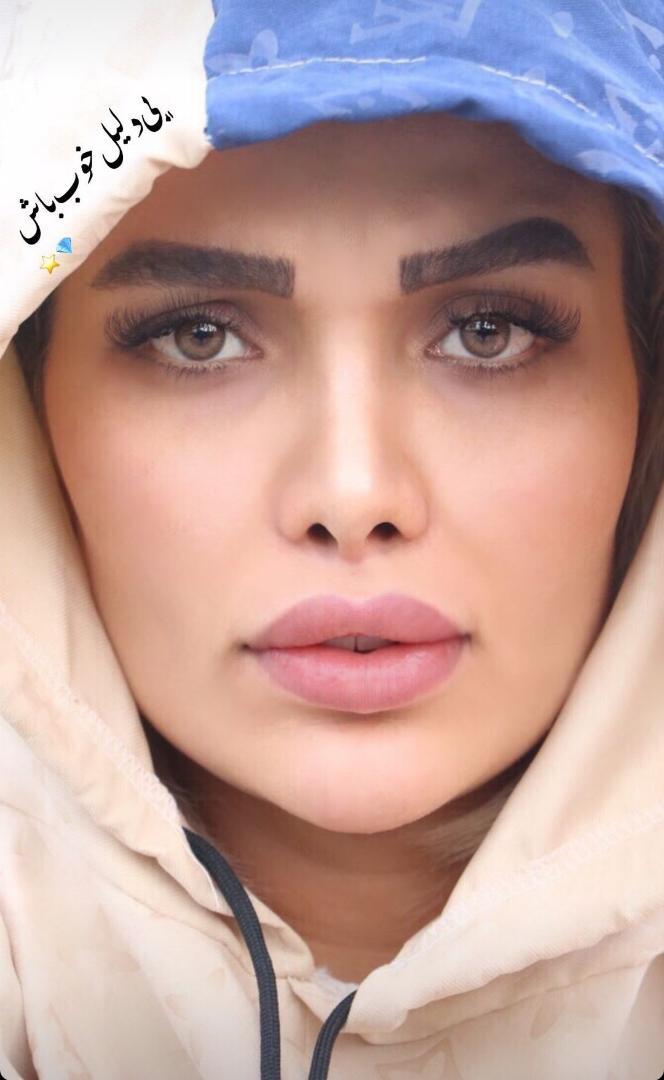 آرایش غلیظ همسر مهدی قائدی