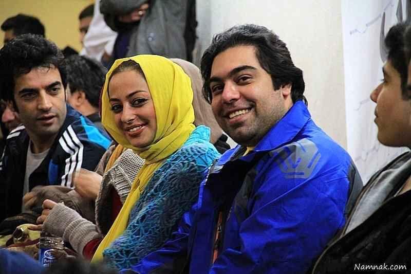 عکس نفیسه روشن در کنار همسرش
