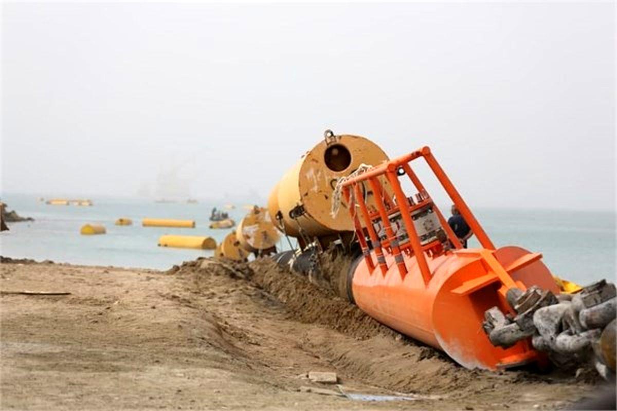 لولهگذاری دومین خط زیردریایی پایانه نفتی جاسک تکمیل شد