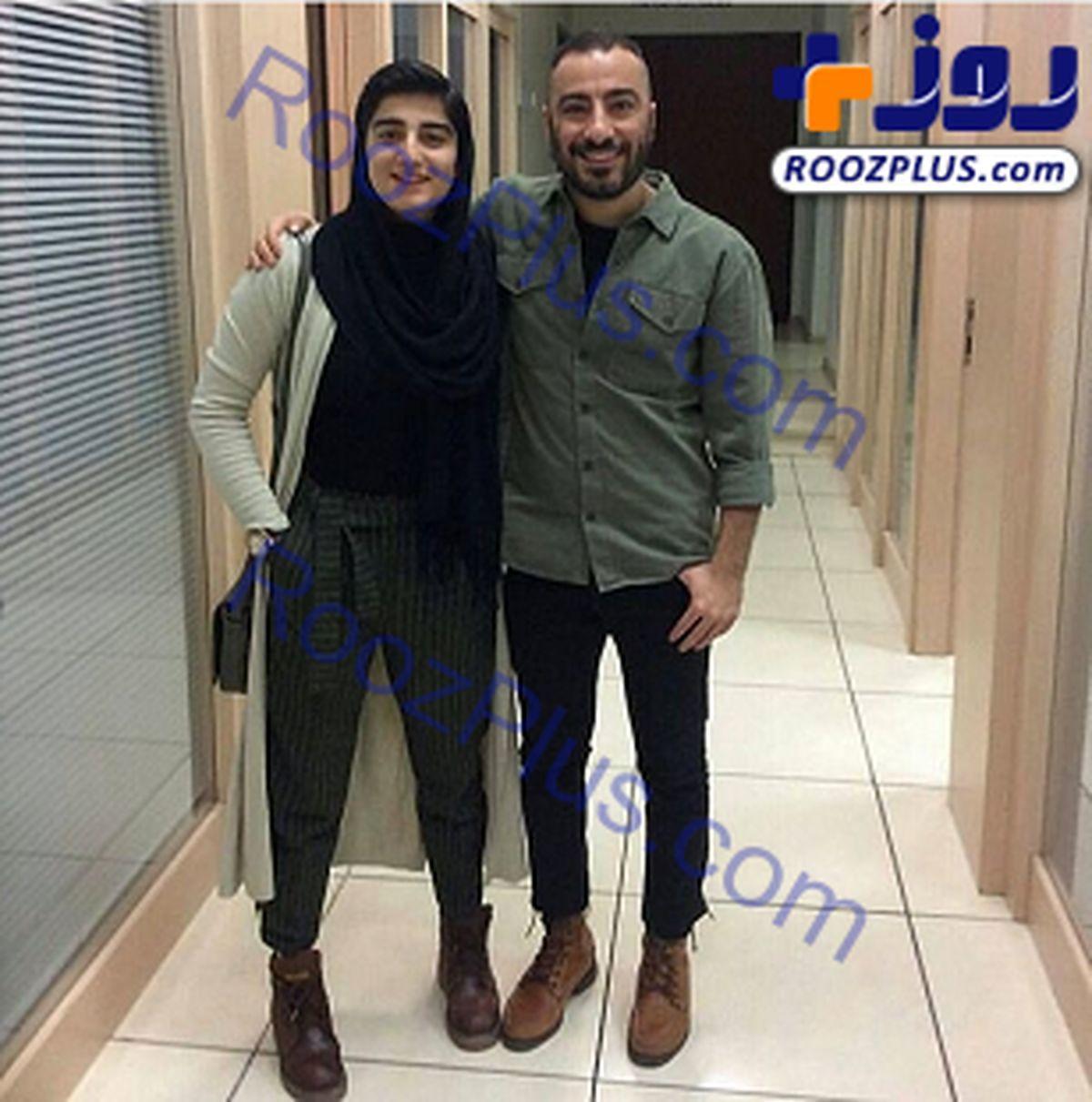 نوید محمدزاده تصویر بدون آرایش همسرش را منتشر کرد + عکس