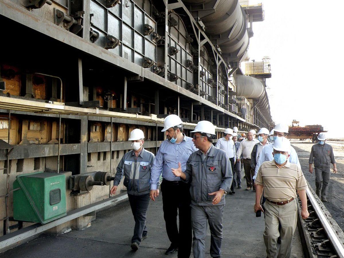 بازدید مدیرعامل شرکت سرمایه گذاری توسعه معادن و فلزات از کارخانه کک سازی طبس