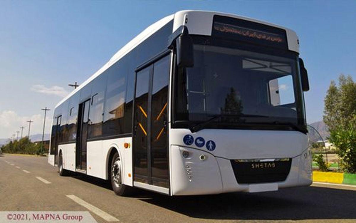 رونمایی از «شتاب»، نخستین اتوبوس تمام برقی کشور