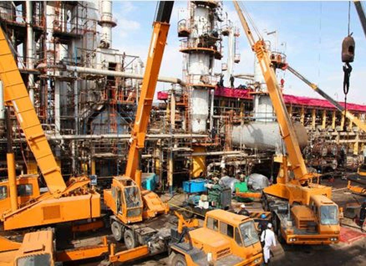 تعمیرات اساسی واحد تقطیر جنوبی شرکت پالایش نفت تهران