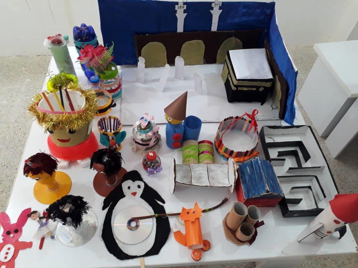 ضایعات پلاستیکی که با هنر دانش آموزان قشمی ماندگار شدند