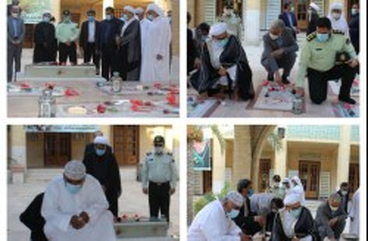 غبارروبی و عطر افشانی مزار شهدای گمنام بمناسبت هفته مبارزه با موادمخدر در کیش